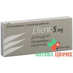 Эфиент 5 мг 28 таблеток покрытых оболочкой