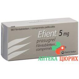 Эфиент 5 мг 98 таблеток покрытых оболочкой