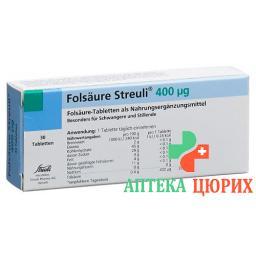 Folsaure Streuli в таблетках, 400µg 30 штук