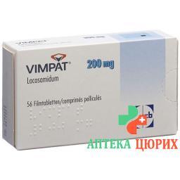 Вимпат 200 мг 56 таблеток покрытых оболочкой