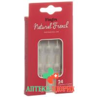 Fingrs Nagelspitzen Natural French 24 штуки