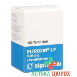 Эльтроксин-ЛФ 0,05 мг 100 таблеток