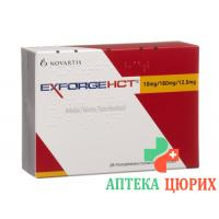 Эксфорж HCT 10 мг / 160 мг / 12,5 мг 28 таблеток покрытых оболочкой