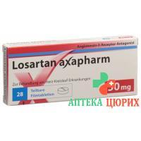 Лозартан Аксафарм 50 мг 28 таблеток покрытых оболочкой