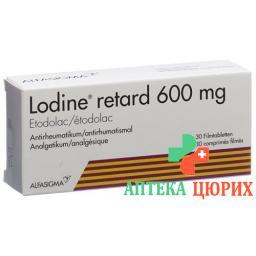 Лодин 600 мг 30 ретард таблеток покрытых оболочкой