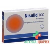 Нисулид 100 мг 15 таблеток
