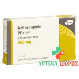 Азитромицин Пфайзер 250 мг 6 таблеток покрытых оболочкой