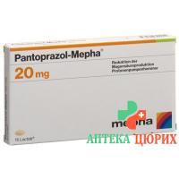 Пантопразол Мефа 20 мг 30 таблеток покрытых оболочкой