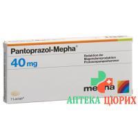 Пантопразол Мефа 40 мг 60 таблеток покрытых оболочкой