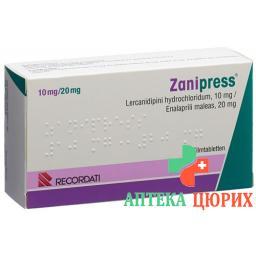 Занипресс 10/20 мг 98 таблеток покрытых оболочкой