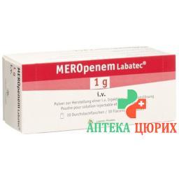 Меропонем Лабатек 1 г сухое вещество для приготовления раствора для инъекций или инфузий 10 флаконов