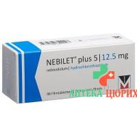 Небилет плюс 5/12,5 мг 98 таблеток покрытых оболочкой