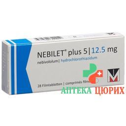 Небилет плюс 5/12,5 мг 28 таблеток покрытых оболочкой