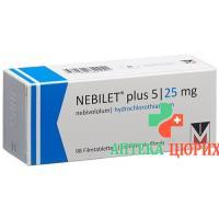 Небилет плюс 5/25 мг 98 таблеток покрытых оболочкой