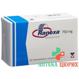 Ранекса ретард 750 мг 100 таблеток