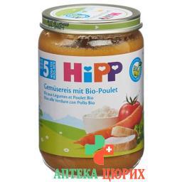 Hipp Gemusereis mit Bio-Poulet Glas 190г