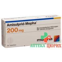 Амисульприд Мефа 200 мг 30 таблеток