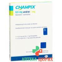 Чампикс 11x0.5 мг/42x1 мг таблеток покрытых оболочкой