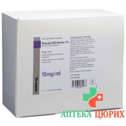 Прокаин HCL Амино1% 50 мг/5 мл 100 ампул 5 мл