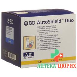 BD Autoshield Tm Duo Sicher-pen-nadel 8мм 100 штук