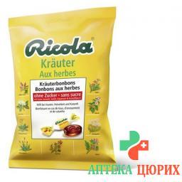 Рикола Травяные леденцы без сахара 125 г