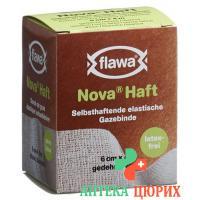 Flawa Nova Haft самоклеющиеся марлевый бинт 6смx4м