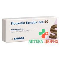 Флуоксетин Сандоз ЭКО 20 мг 14 капсул