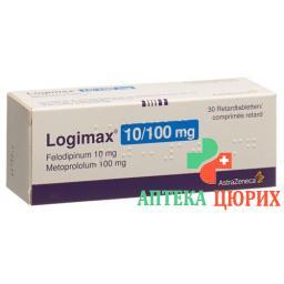 Логимакс 10/100 30 ретард таблеток