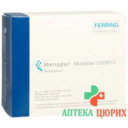 Менопур мультидоза 1200 E флакон сухое вещество