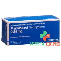 Прамипексол Хелвефарм 0,25 мг 100 таблеток