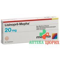 Лизиноприл Мефа 20 мг 100 таблеток