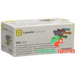 Mylife Lancets Einweglanzetten Multicolor 200 штук
