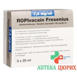 ROPIVACAIN FRES 7.5 MG/ML