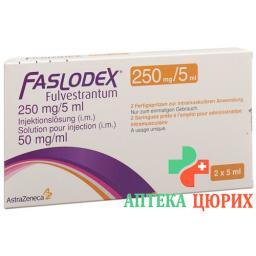 Фазлодекс 250 мг/5мл 2 заполненных шприца 5 мл