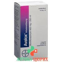 Авалокс раствор для инфузий 400 мг / 250 мл флакон 250 мл
