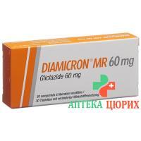 Диамикрон MР 60 мг 30 таблеток