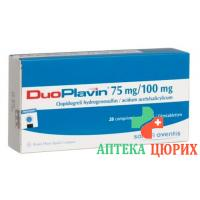 ДуоПлавин 75/100 мг 28 таблеток