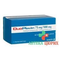 ДуоПлавин 75/100 мг 84 таблетки
