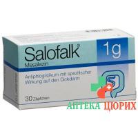 Салофальк 1 г 30 суппозиториев