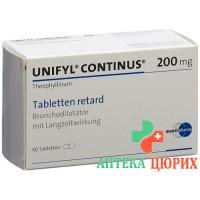 Унифил Континус 200 мг 60 ретард таблеток