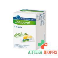 Магний Диаспорал Актив Директ Лимон 375 мг 60 стиков