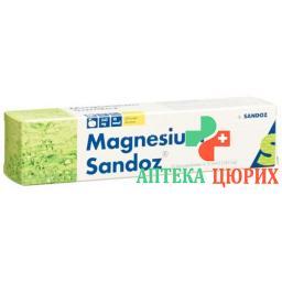 Магний Сандоз 20 шипучих таблеток лимон