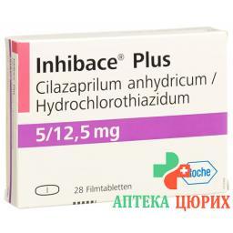 Инибак плюс 5 мг 28 таблеток покрытых оболочкой