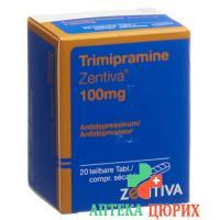 Тримипрамин Зентива 100 мг 20 таблеток