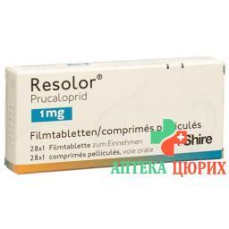 Резолор 1 мг 28 таблеток покрытых оболочкой