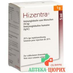 Хизентра 1 грамм /5 мл флакон 5 мл раствор для инъекций