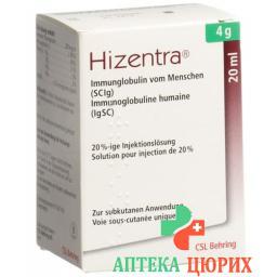 Хизентра 4 грамма /5 мл флакон 5 мл раствор для инъекций