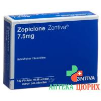 Зопиклон Зентива 7.5 мг 100 таблеток покрытых оболочкой