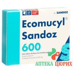 Экомуцил Сандоз 600 мг 10 гранул в пакетиках