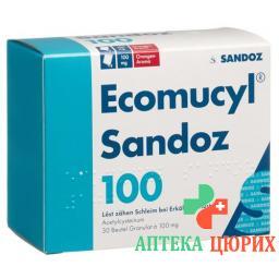 Экомуцил Сандоз 100 мг 30 пакетиков гранулы